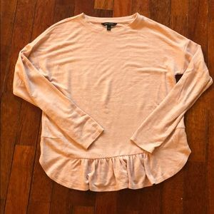 Banana Republic Light Pink blouse with ruffles